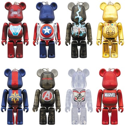 5ab1d9cd HappyKuji Exclusive Avengers: Endgame 100% Be@rbrick Keychain Series by  Medicom Toy