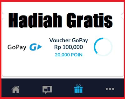 hadiah gratis voucher gopay 100 ribu dari milieu