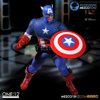 Mezco San Diego Comic-Con 2016 Exclusive ONE 12 COLLECTIVE Marvel Comics Captain America Deluxe Classic Version Figure