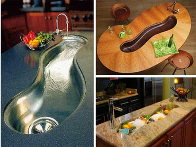 Curved kitchen Sinks