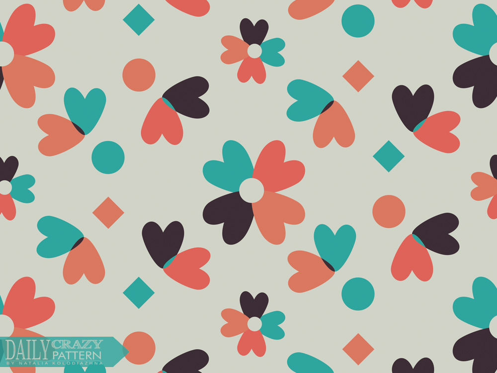 "Geometric vintage pattern for ""Daily Crazy Pattern"" project"