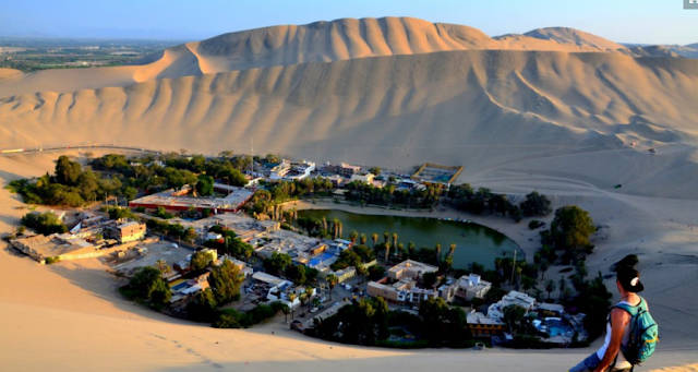 Desert garden of Huacachina, Peru