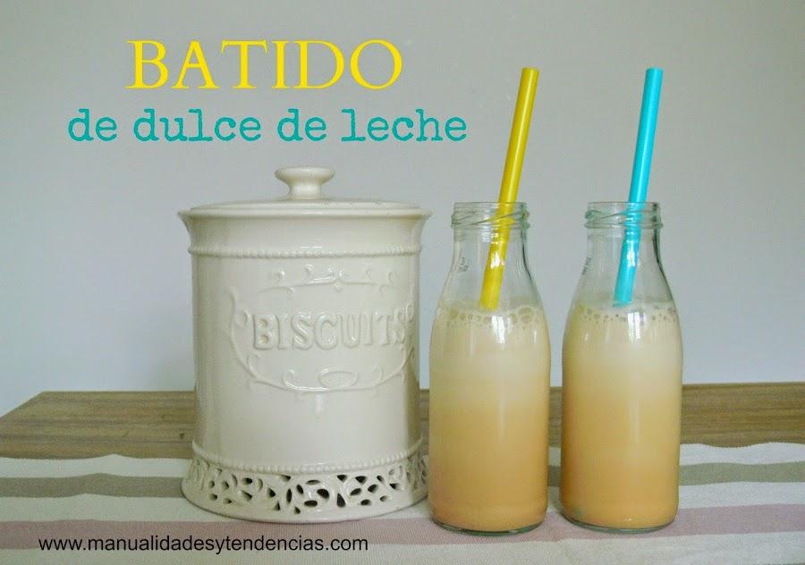 receta de batido de dulce de leche
