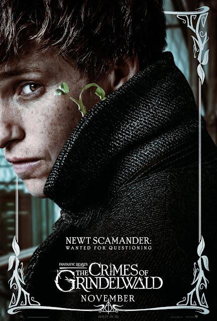 Pôsteres dos personagens de 'Os Crimes de Grindelwald' são divulgados | Newt Scamander | Ordem da Fênix Brasileira