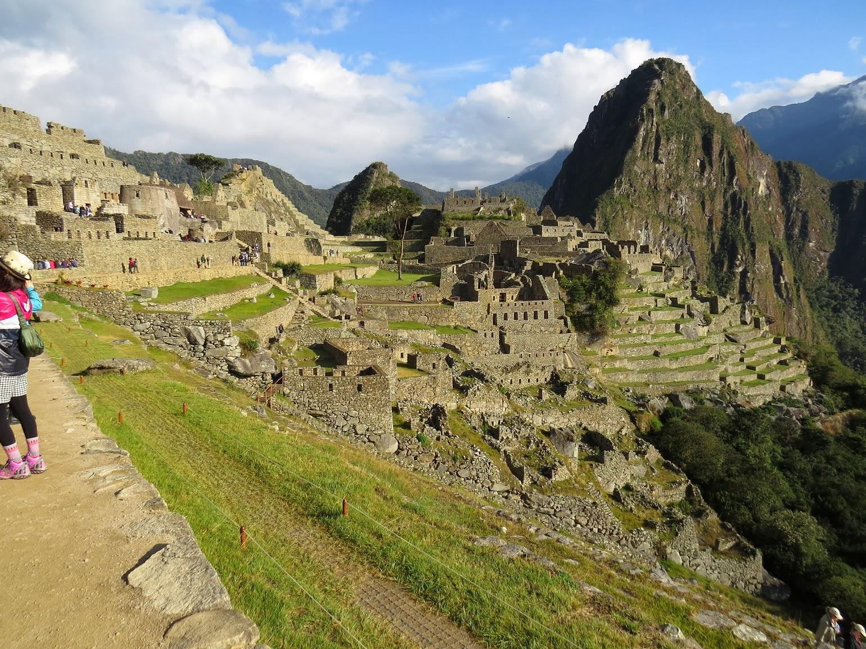 Vista de Machu Picchu / Peru após a entrada.