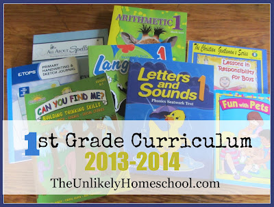 1st Grade Curriculum 2013-2014 The Unlikely Homeschool