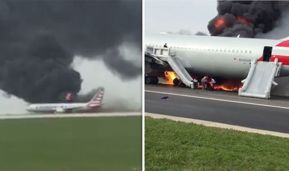 Passengers Forced To Flee Plane On Fire At Chicago Airport Runway (Photos)