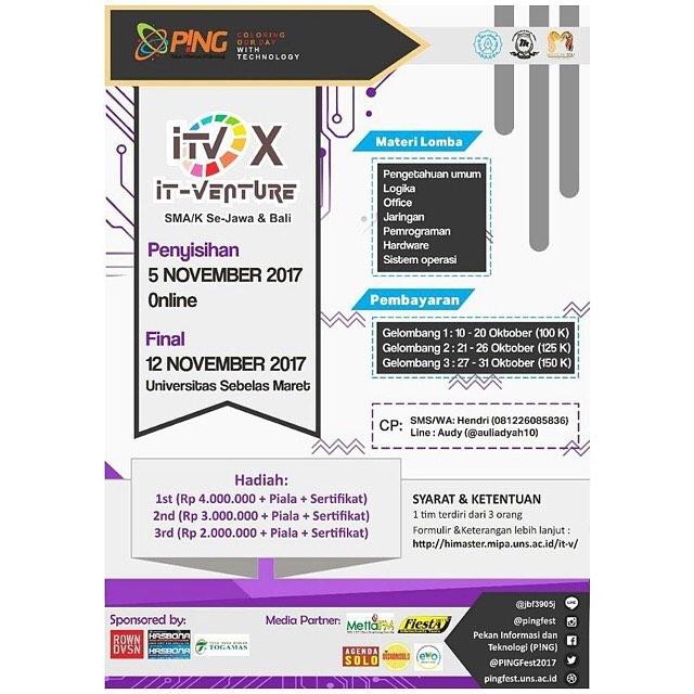 Event IT Venture Tingkat SMA Sederajat Se-Jawa & Bali