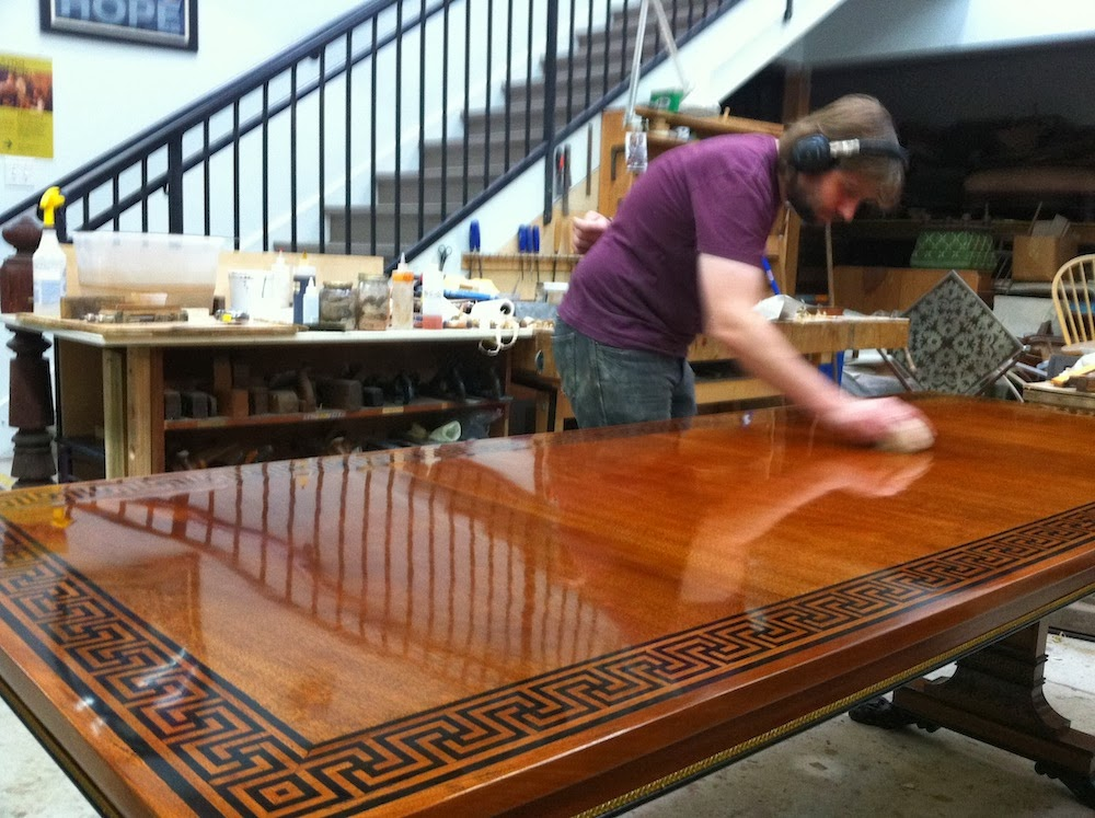 how to french polish a table