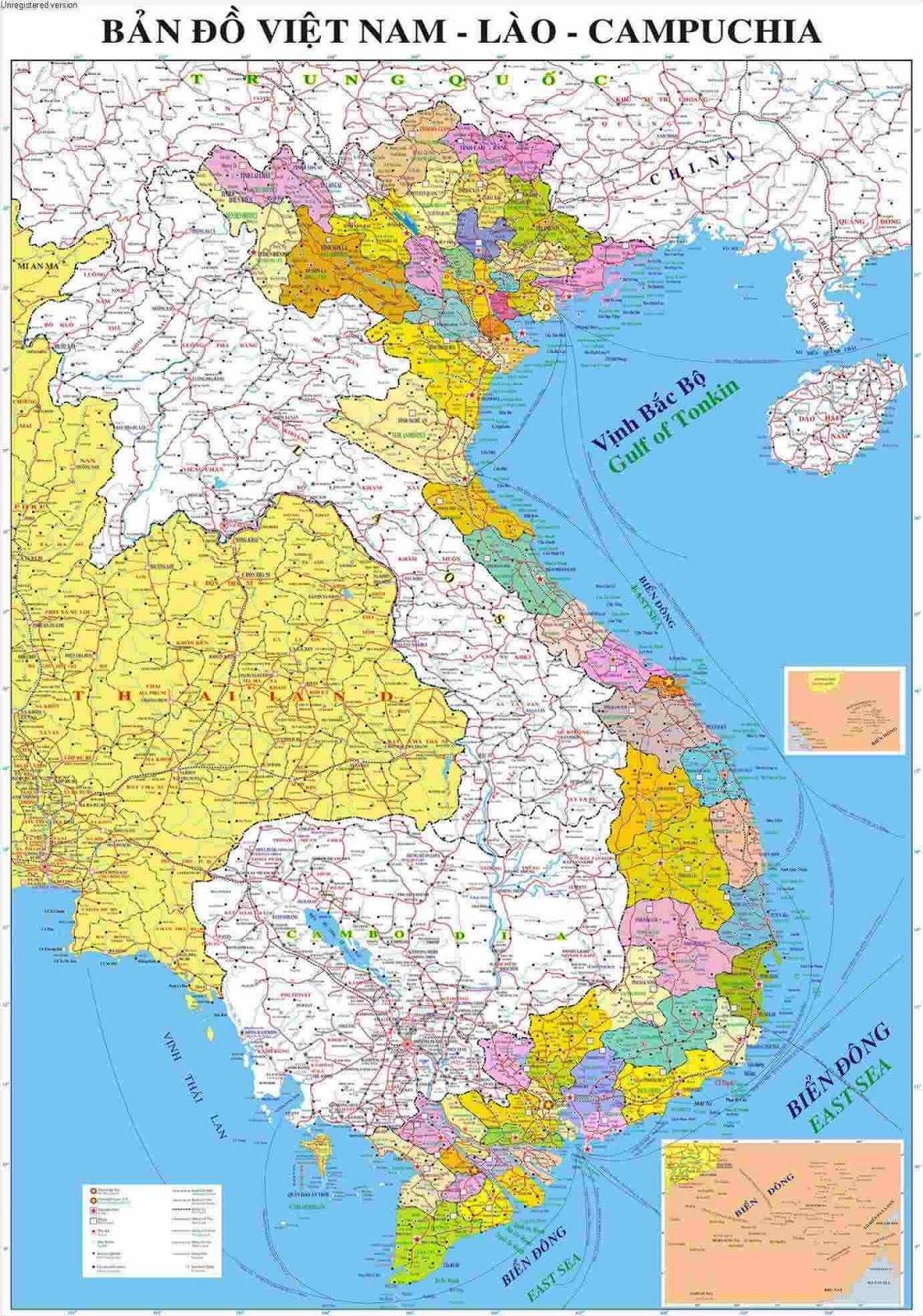 Bản đồ Việt Nam Khổ Lớn Chất Lượng 2016