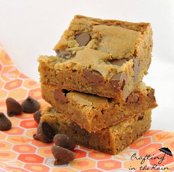 Blonde brownies recipe