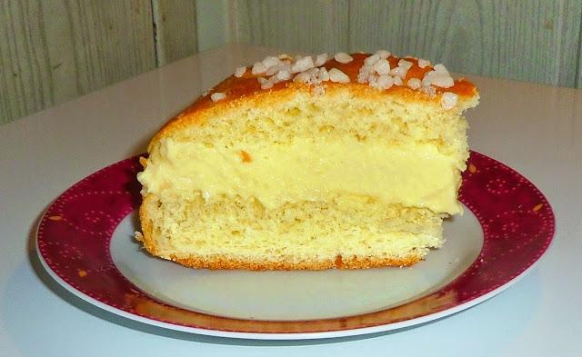recette tropézienne, tarte à la crème