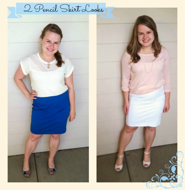 fe874fb2f7 The first time I wore a pencil skirt was my senior year of high school when  I was in the musical