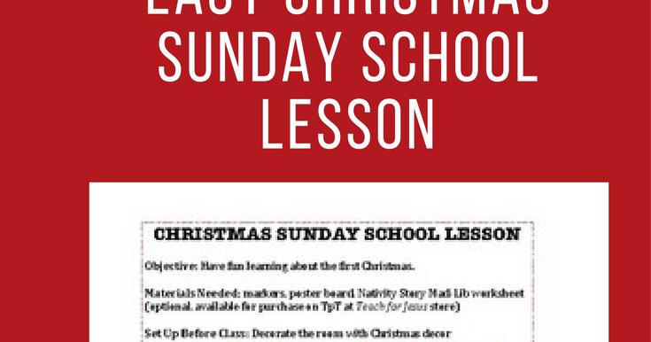 90 Days For Jesus Christmas Sunday School Lesson