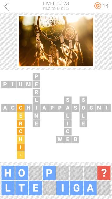 Soluzioni Parole collegate 3: Cruciverba   Livello 23