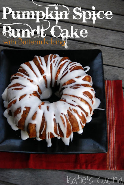 Pumpkin Spice Bundt Cake With Buttermilk Icing Katie S