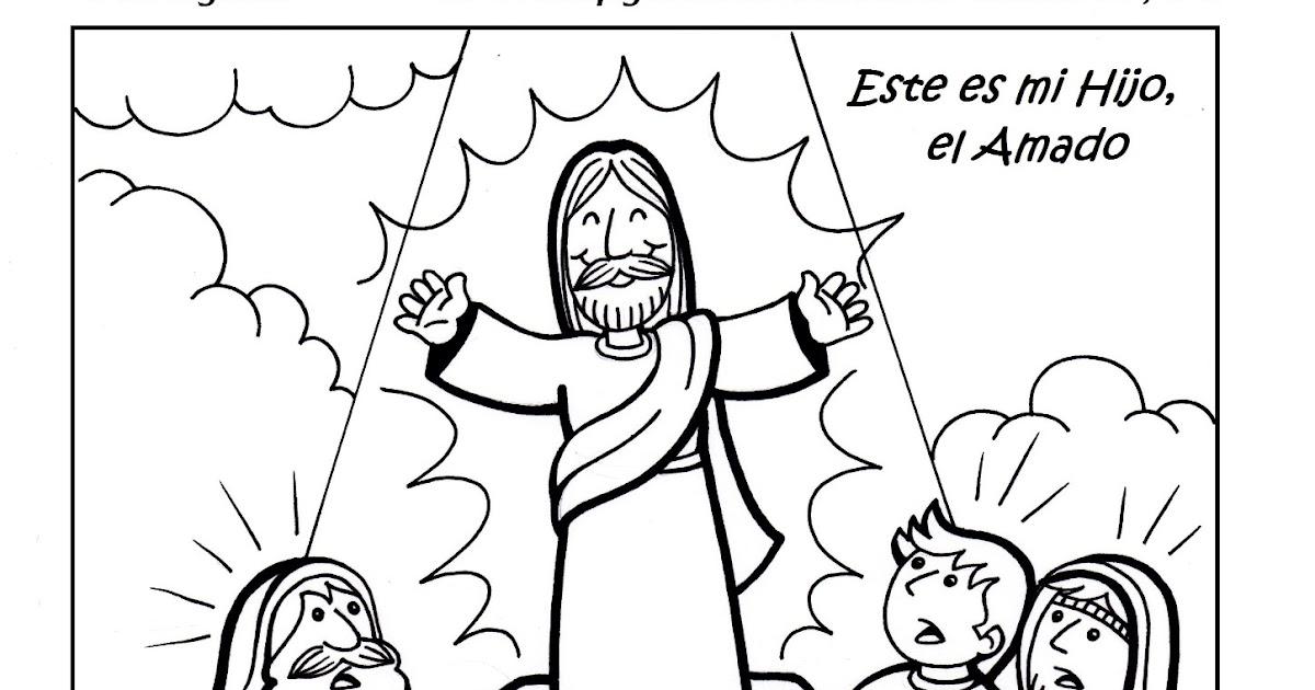Parroquia La Inmaculada: Colorea la Transfiguración del Señor