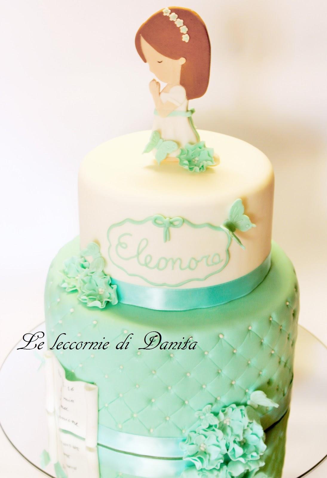 Popolare Le leccornie di Danita: Torta prima comunione Tiffany LQ38