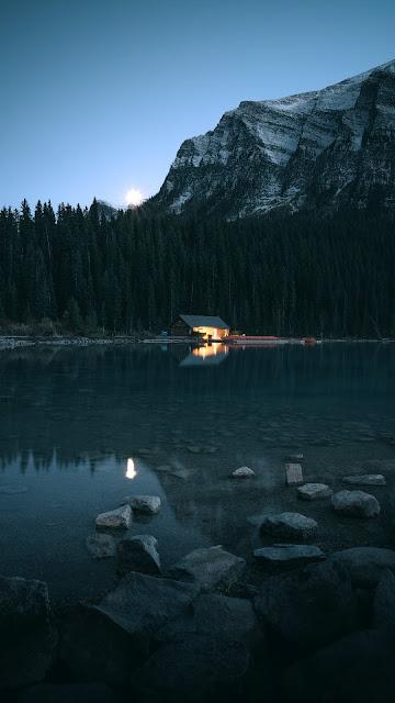 beautiful wallpaper lake camp nature