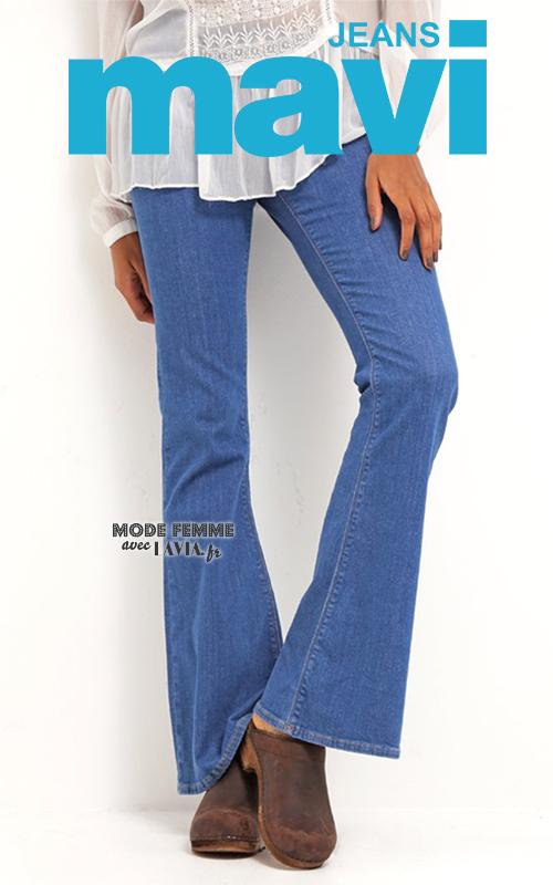 Jean bleu bootcut pattes d'eph Mavi