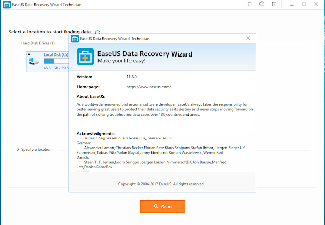 Easeus data recovery wizard technician serial key