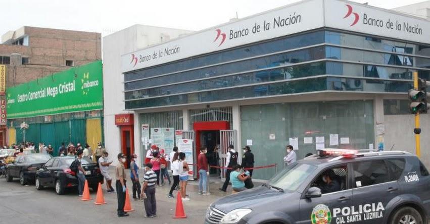 BONO S/ 380 POR CUARENTENA: Banco de la Nación pagará hoy sábado en 7 ciudades y el domingo en 3 provincias - www.yomequedoencasa.pe