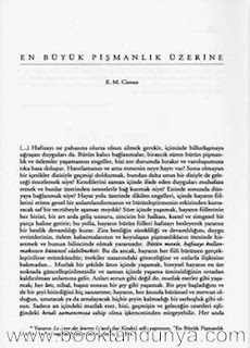 Emil Michel Cioran - En Büyük Pişmanlık Üzerine