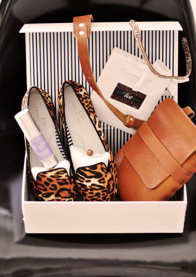 i-ella bag, charles philip shoes, deepa gurnani headband, billy kirk bag