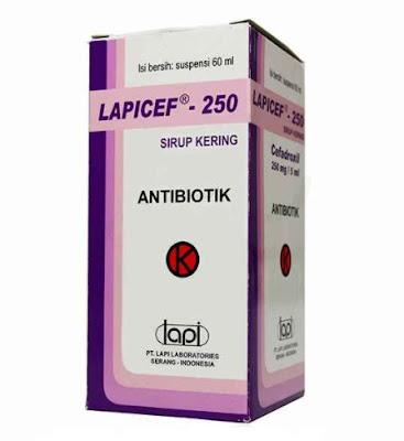 Lapicef - Manfaat, Dosis, Efek Samping dan Harga