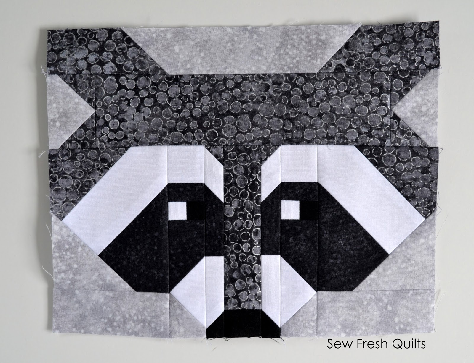 Sew fresh quilts raccoon quilt jeuxipadfo Gallery