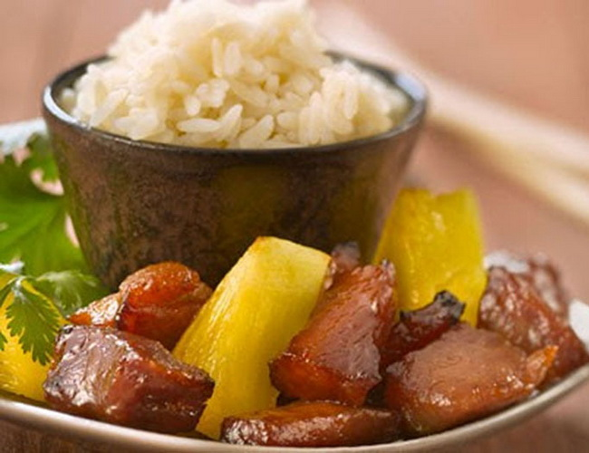 Xvlor Pork adobo or adobong baboy is pork dish in adobo technique by Filipinos