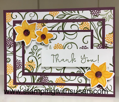 www.stampingwithsusan.com, Stampin' Up!, May Flowers Framelits, Falling Flowers