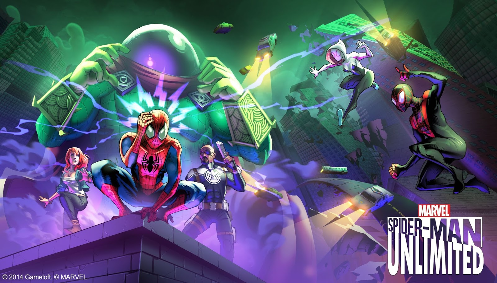 Spider-Man Unlimited v1 9 0s Mod Apk (Unlimited All