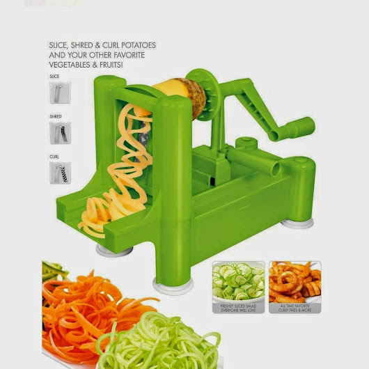 New and Essential Spiralizer Tri-Blade Spiral Vegetable Slicer by ClearMax