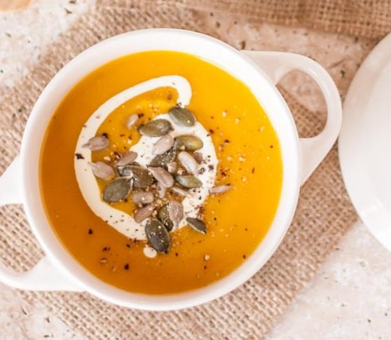 Spiced Pumpkin Carrot & Sweet Potato Soup