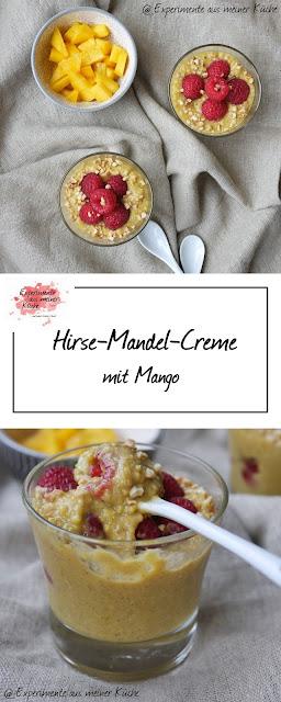 Hirse-Mandel-Creme mit Mango