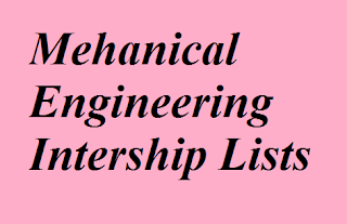 Companies offering internship for mechanical engineering students