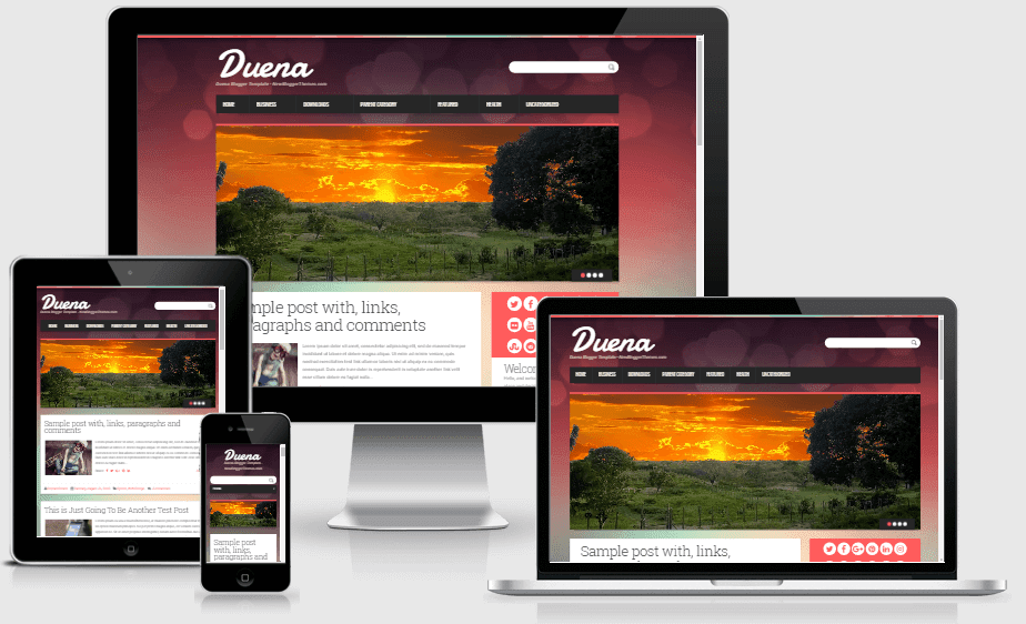 Download Duena Responsive Elegant Blogger Template