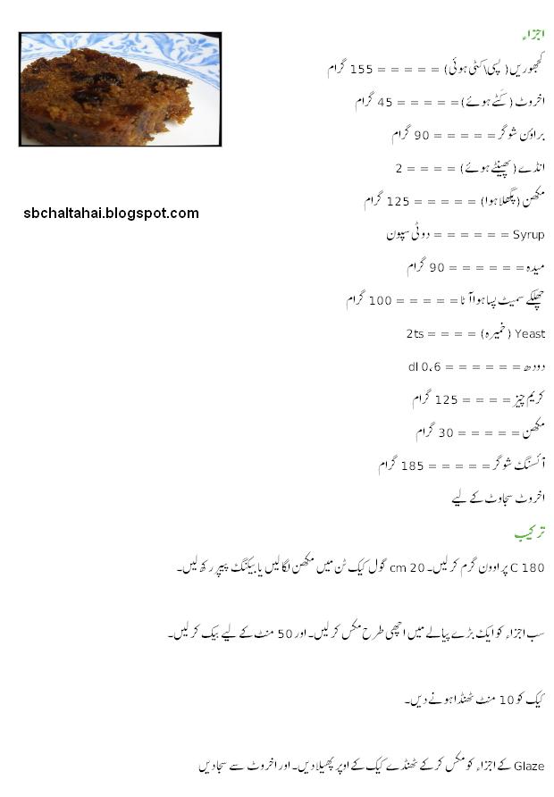 Khajor Ka Cake Recipe Urdu Sab Chalta Hai