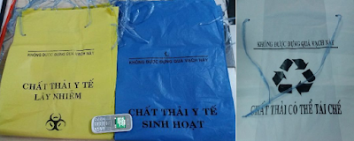 Bán túi đựng rác bệnh viện màu vàng tại Cần Thơ