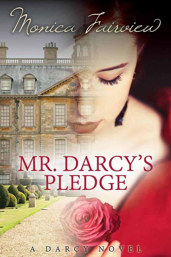 Book Cover - Mr Darcy's Pledge by Monica Fairview