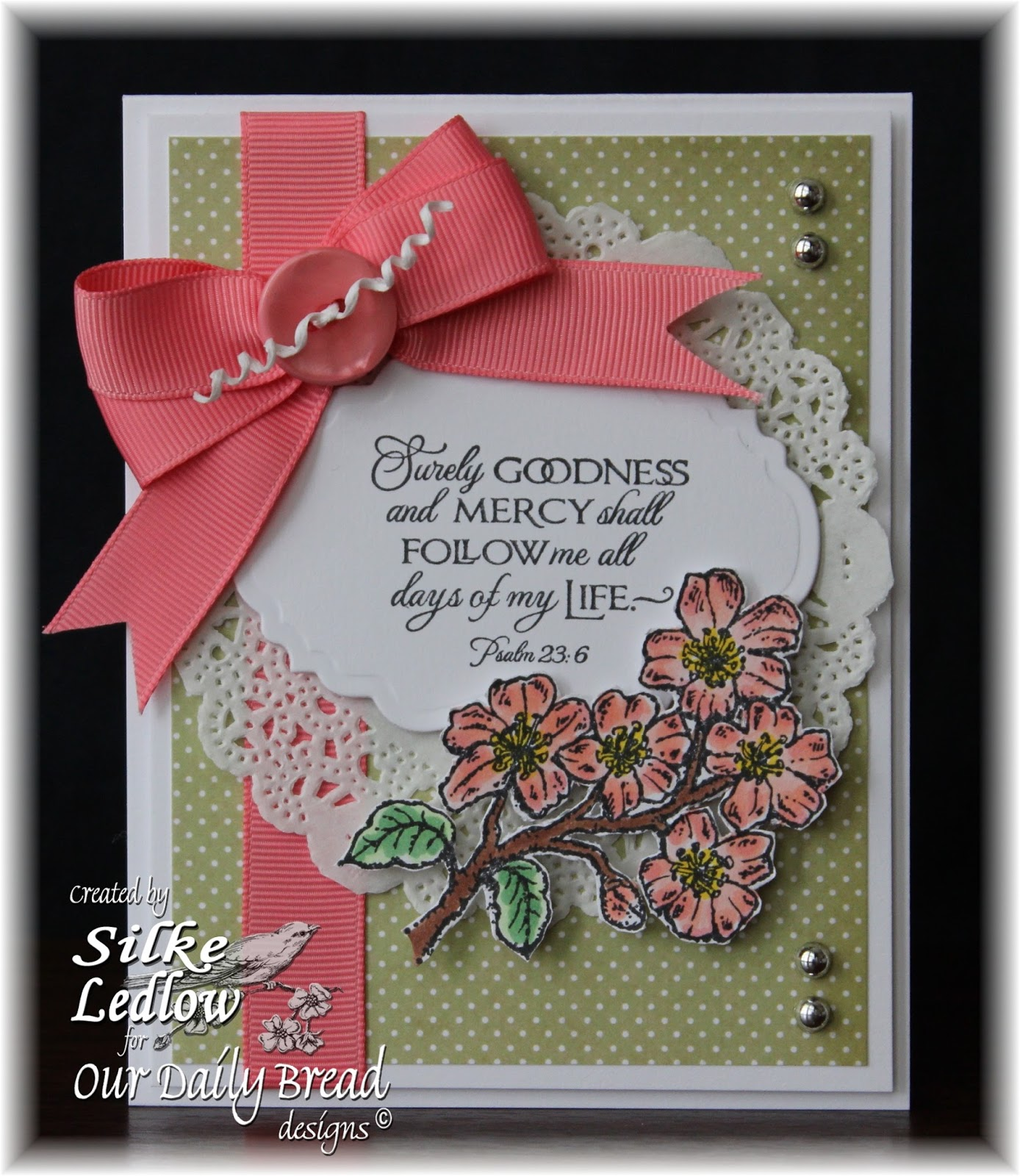 Stamps - Our Daily Bread Designs Cherry Blossom, ODBD Blushing Rose Paper Collection, ODBD Custom Vintage Labels Die