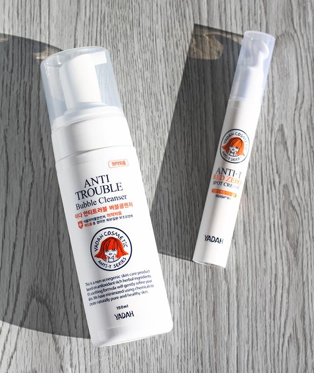 Yadah Review, Yadah Anti Trouble Review, Yadah Anti Trouble Bubble Cleanser, Yadah Anti-T Red Zero Spot Cream