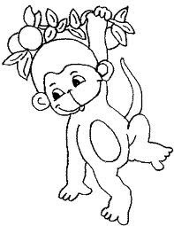 7 Free Baby Monkey Coloring For Drawing by Kids