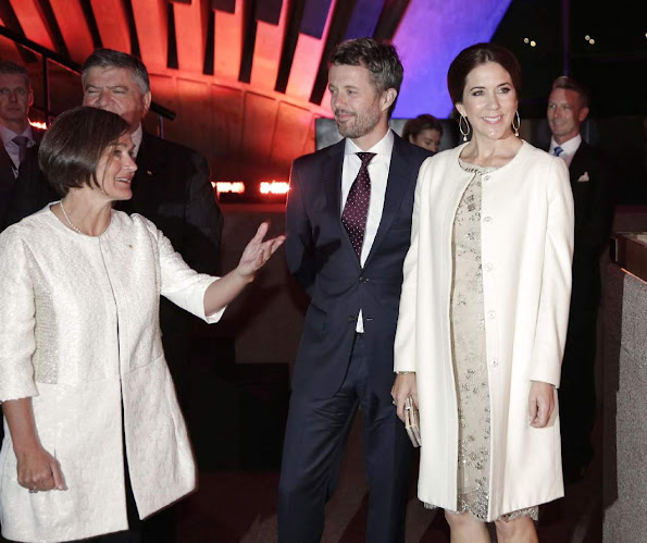 Crown Prince Frederik and Crown Princess Mary attend a gala concert celebrating the 40th anniversary of the Sydney Opera House