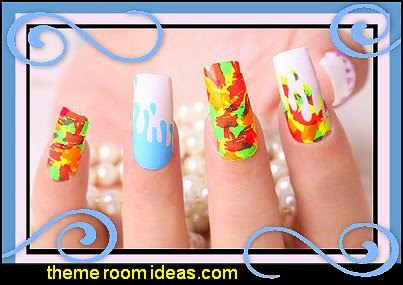 Colorful Nail Wraps,Nail Stickers Glow in The Dark