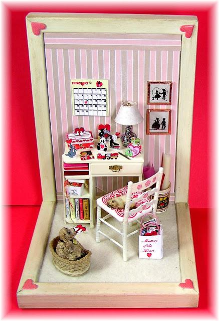 miniature, dollhouse, mini, valentine box
