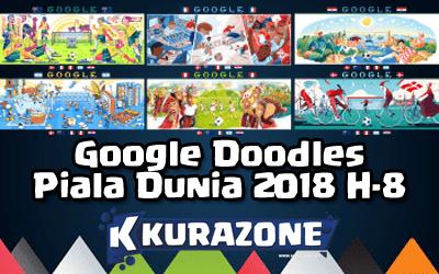 Google Doodles - Piala Dunia 2018 H-8