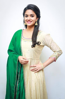 Keerthy Suresh in Wheat Color Dress with Cute and Lovely Smile
