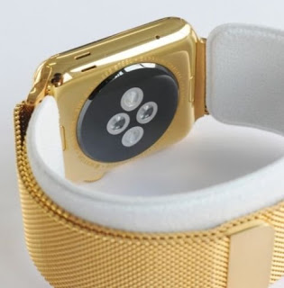Top Best new Apple Watch - 42MM Apple Watch 24K GOLD plated w/Gold Milanese Loop